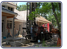 Well site, Geothermal drilling